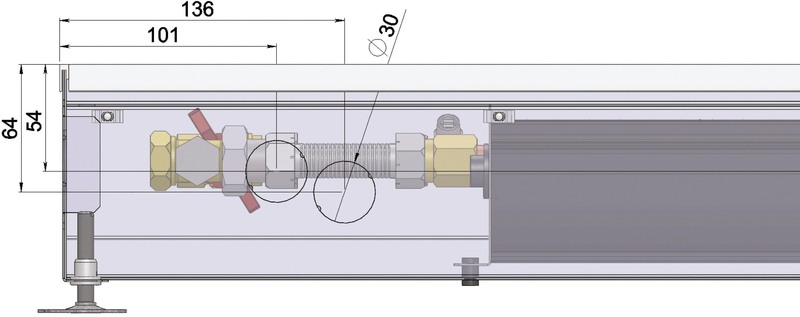 Конвекторы с вентилятором MINIB COIL-KT3 105