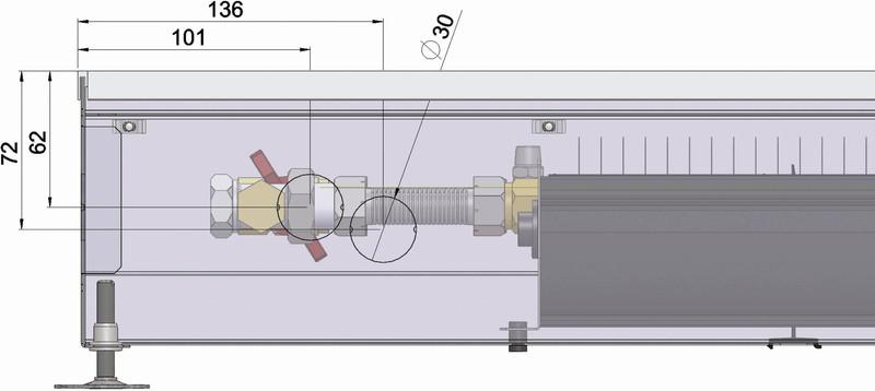 Конвекторы с вентилятором MINIB COIL-KT3