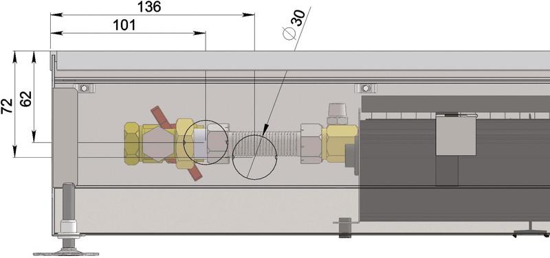 Конвекторы с вентилятором MINIB COIL-KT