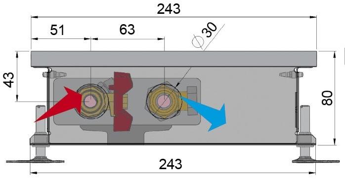 Конвекторы без вентилятора MINIB COIL- P80. Один из самых недорогих конвекторов Minib