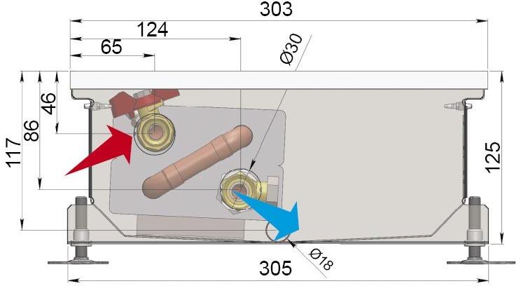 Конвекторы без вентилятора MINIB COIL-PO/4
