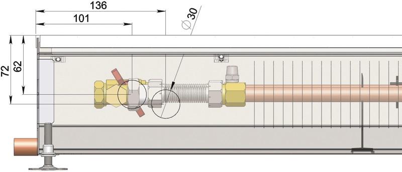 Конвекторы без вентилятора MINIB COIL-PO