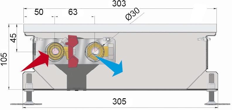 Конвекторы без вентилятора MINIB COIL-PT105