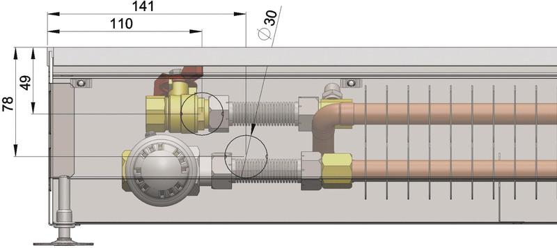 Конвекторы без вентилятора MINIB COIL-PT/4