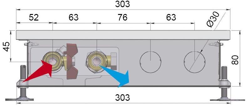 Конвекторы без вентилятора MINIB COIL-PT80