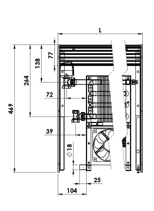Конвекторы с вентилятором MINIB NCA 4P