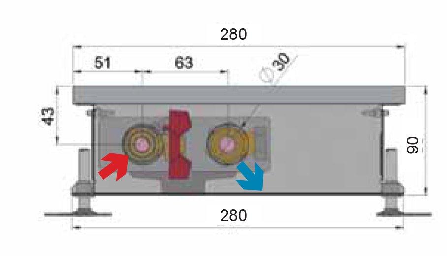 Конвекторы без вентилятора MINIB P90 280