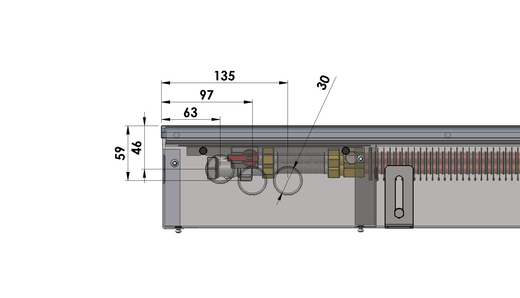 Конвекторы без вентилятора MINIB PW110e