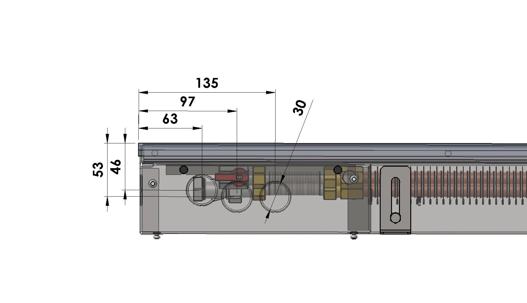 Конвекторы без вентилятора MINIB PW90e