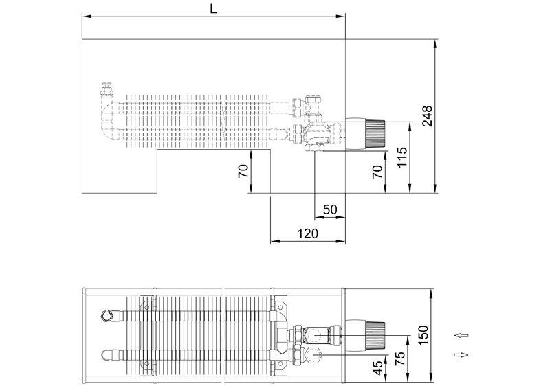 Конвекторы без вентилятора MINIB SPF1