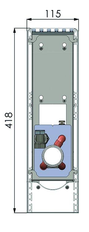 Конвекторы без вентилятора MINIB SUF2