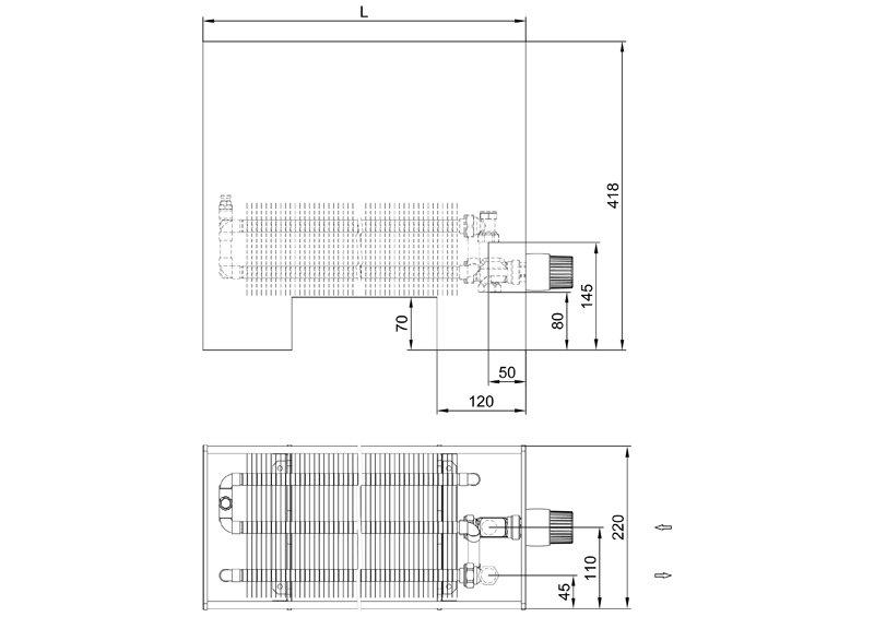 Конвекторы без вентилятора MINIB SWF2